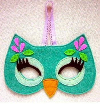 máscara de fieltro para disfrazarse de búho, es monísima y fácil de hacer #disfraces #niños: