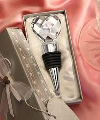 Tampa de garrafa formato coração de cristal