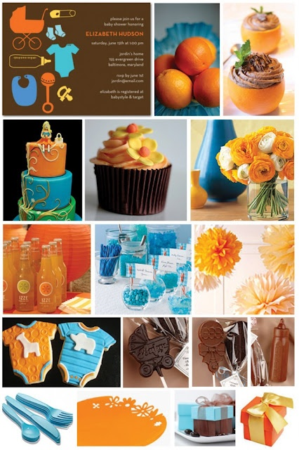 Baby showers: Baby Love, Colors Combos, Fall Baby Shower, Baby Shower Ideas, Colors Theme, Blue Baby Shower, Baby Boys, Colors Schemes, Boys Baby