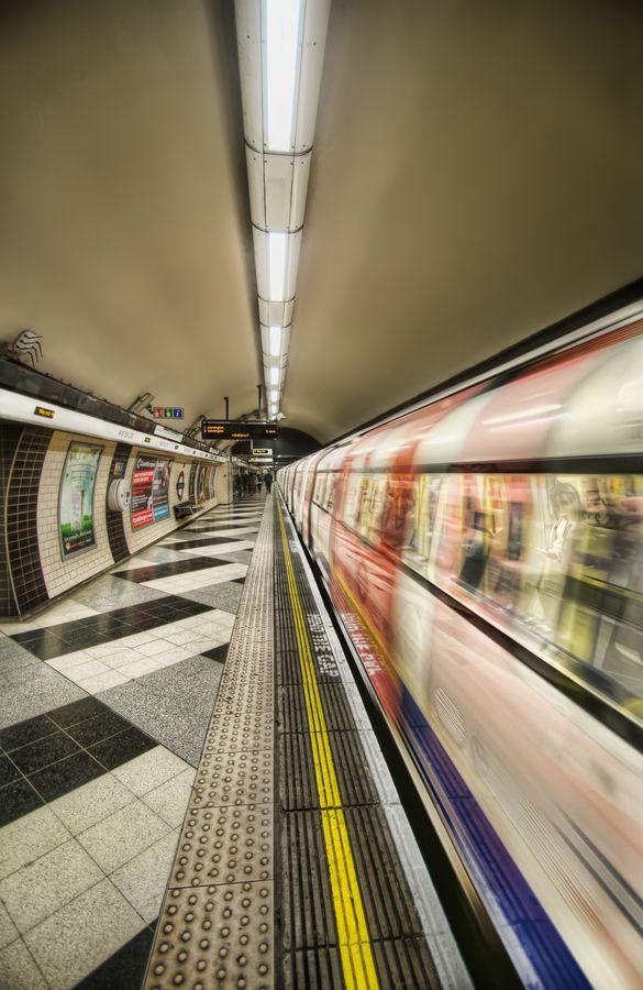 The tube in London.