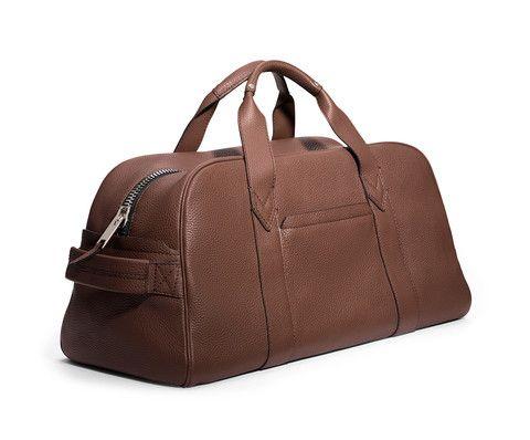 GILBANO - Leather Gym Bag - Phillimore - Brown