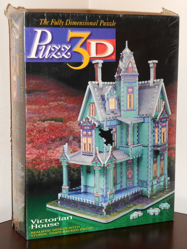 FOR SALE - Puzz3D Jigsaw Puzzle Victorian House 700 Pieces Extra Challenging Milton Bradley NIB