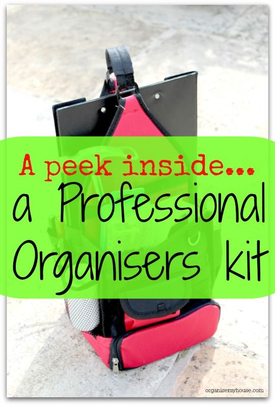a peek inside a professional organisers kit