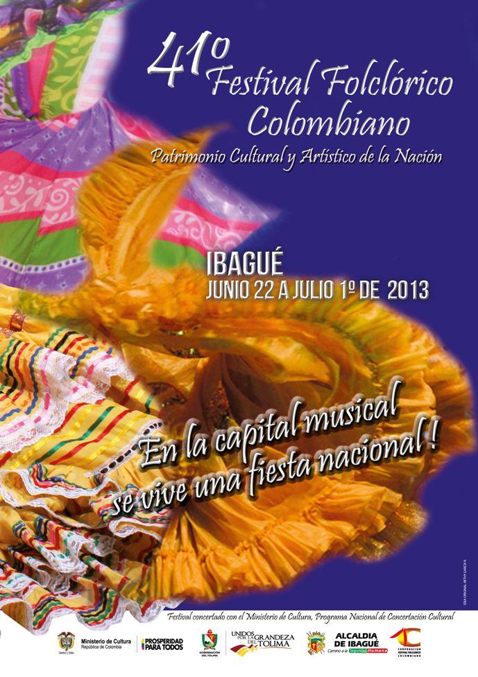Festival Folclórico Colombiano, Ibagué, Tolima, Colombia, 2013