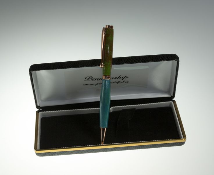 Fancy Slimline Pen in Timber and two-tone Acrylic