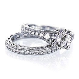 Sigh...maybe someday. I love vintage-looking wedding rings.