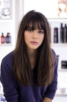 Beautiful fringes with long hairstyles