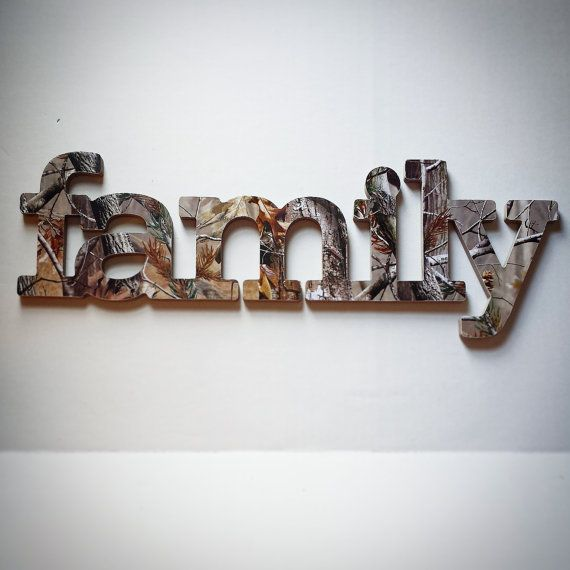 Family Sign Wall Decor in RealTree Camo Great by AlbonsBoutique