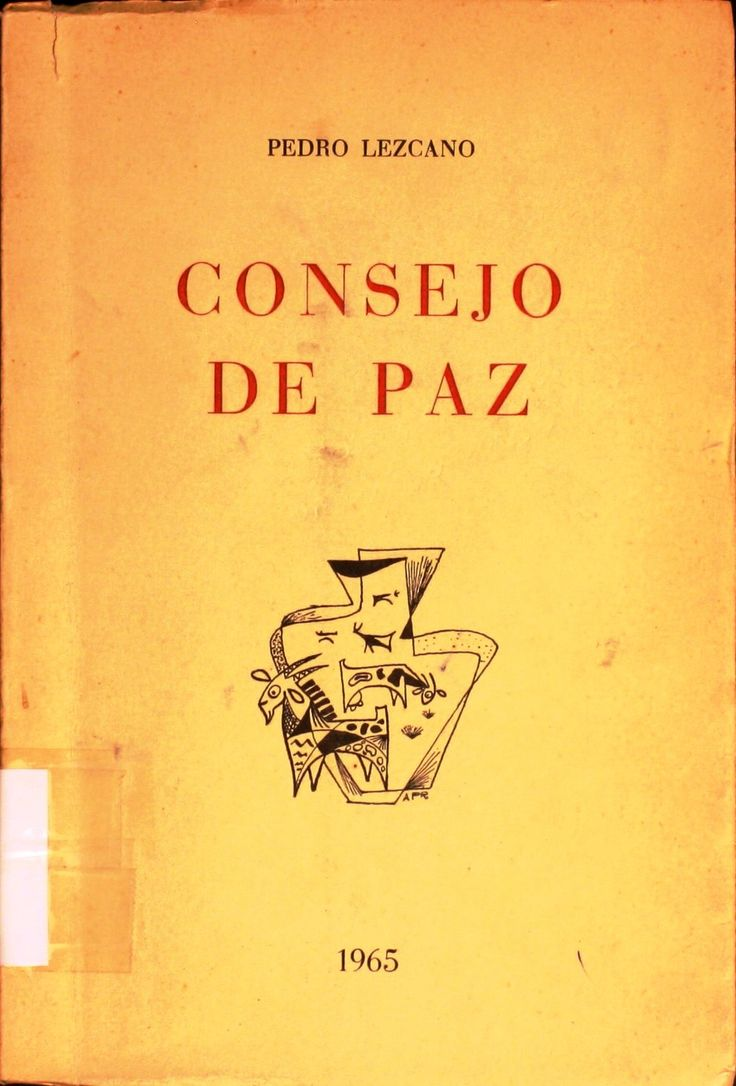 Consejo de paz / Pedro Lezcano http://absysnetweb.bbtk.ull.es/cgi-bin/abnetopac01?TITN=127520