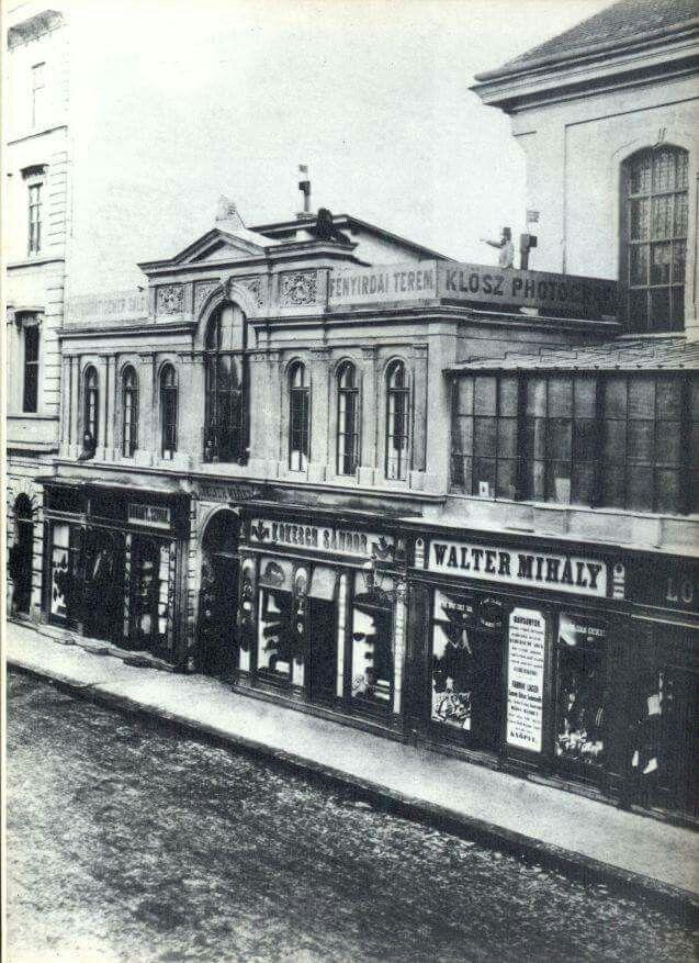 1890. Klösz György műterme, Kossuth Lajos utca 1.