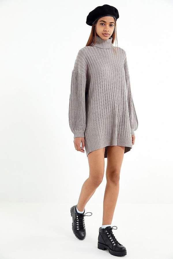 ec1e57f620 Warm and cozy fashion  UO Jill Turtleneck Sweater Mini Dress