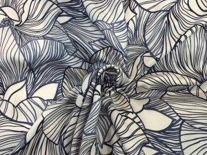 Tessuto raso di seta a fiori