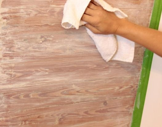 Stripping Paint From Wood Planked Walls From The Space Between