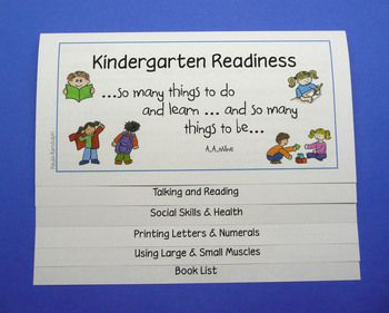 Booklet for Kindergarten Orientation