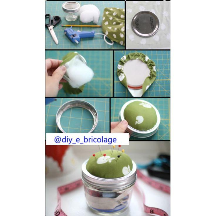 #carta #diy #faidate #bricolage #cotone #tessuto #spilli #scatola #nastri #colla by diy_e_bricolage