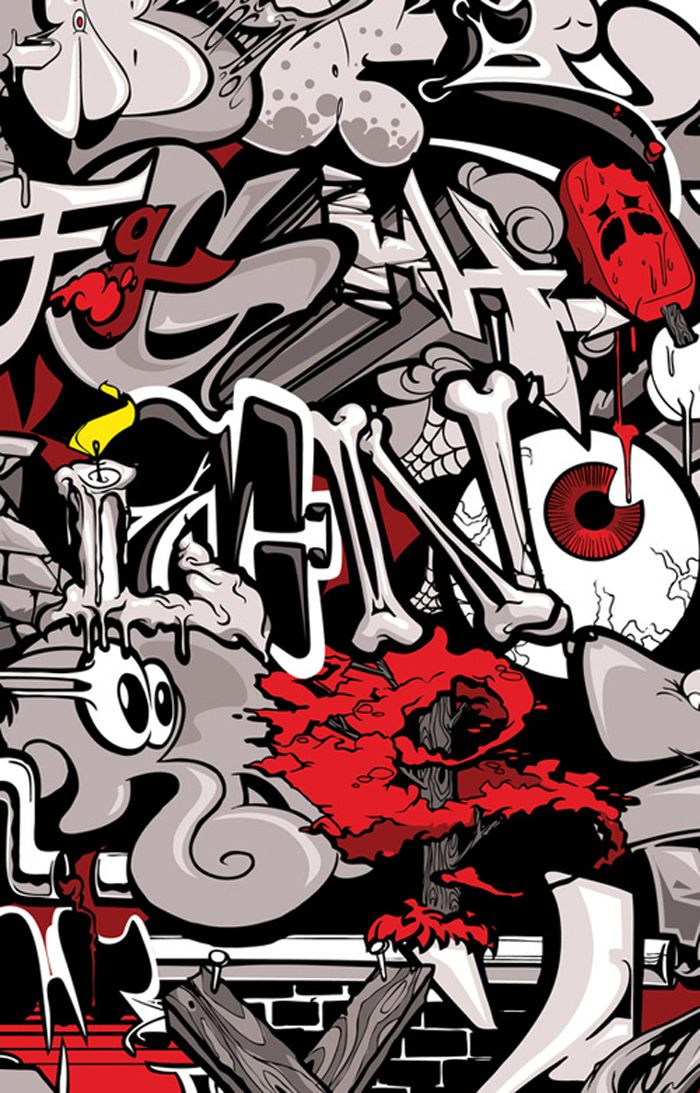 Jordan Nickel 3D graffiti alphabets Wall street art