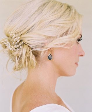 Another 25 Bridal Hairstyles & Wedding Updos | Confetti Daydreams - A beautiful low bun wedding hairstyle with a glittering DIY hairpiece, which you can learn to create yourself.