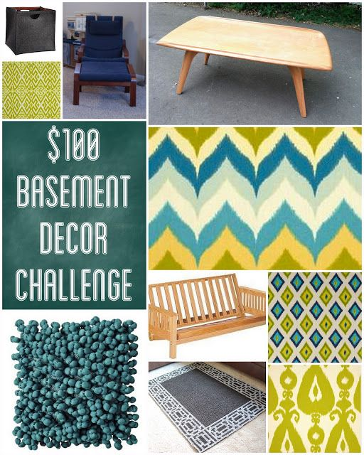 basement decor on a budget