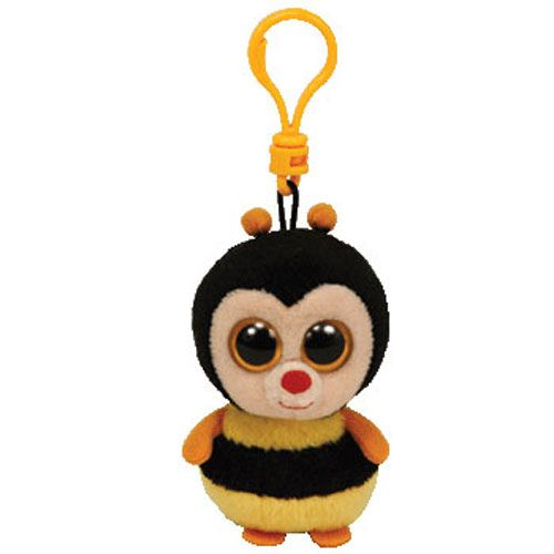 TY Beanie Boos - STING the Bumble Bee (Solid Eye Color) (Plastic Key Clip - 3 inch)