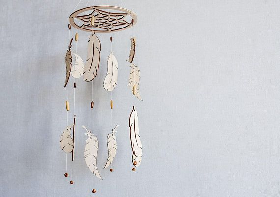 Baby mobile - Baby mobile dream catcher - Baby mobile girl - Baby mobile boy - Crib mobile - Feather mobile - Boho mobile - Mobile bebe