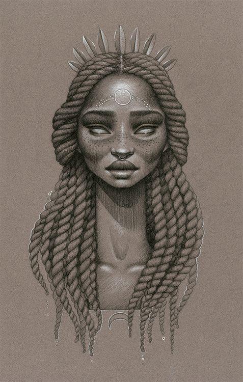 Queen.  Art by Sarah Golish.