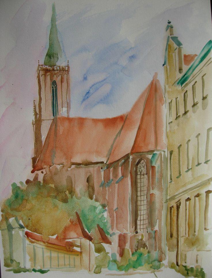 Wrocław 2014, akwarela