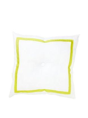 Trina Turk Ogee Embroidered Pillow, White/Citron, 18