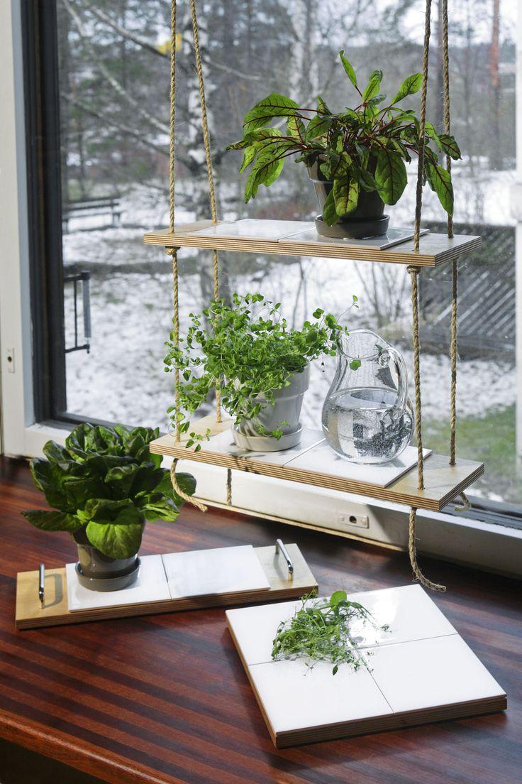 Gör det själv - Hängande blomhylla | K-rauta.se