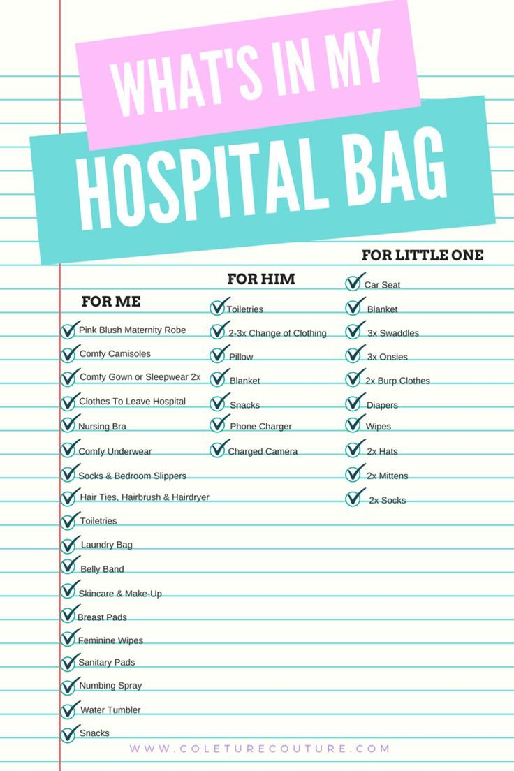 What's in My Hospital Bag? — Coleture