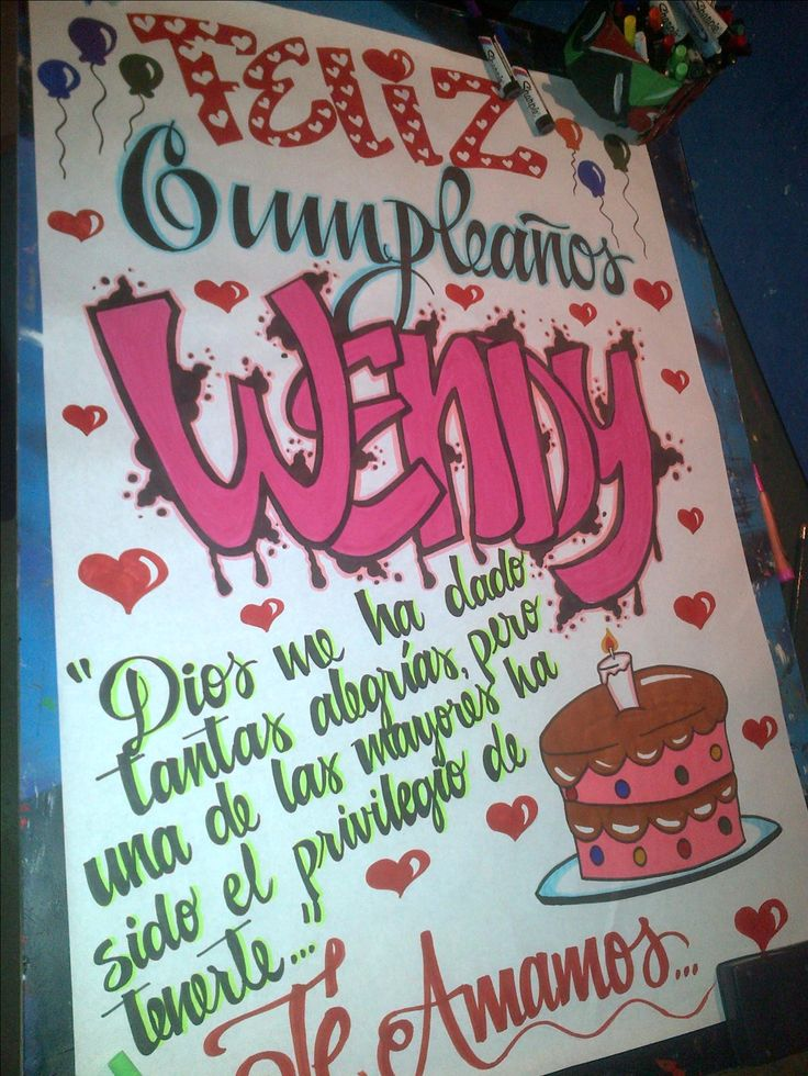 pancarta de cumpleaños en papel bond