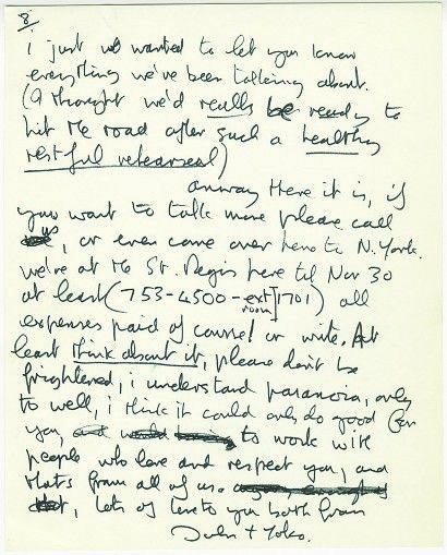Lennon's letter to Clapton could see $30,000 at auction