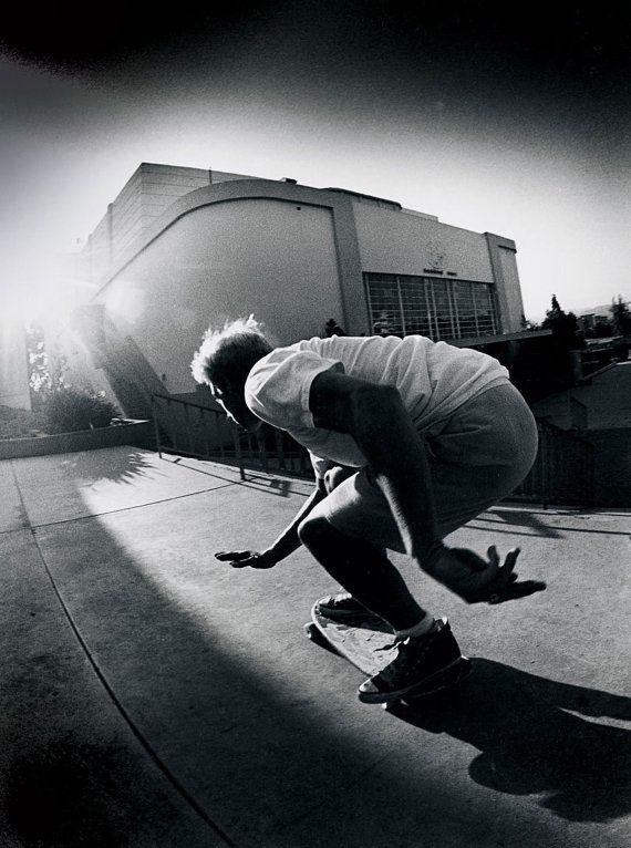 "80s Skate Photo - Natas Kaupas - Eighties Skateboarding Photograph 16x20"" Print - J Grant Brittain Skateboarding Photo"