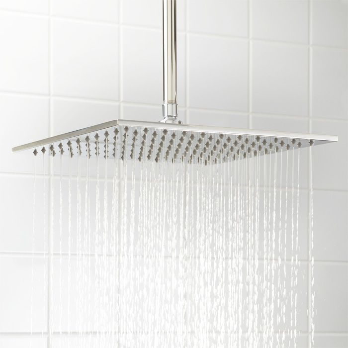 """14"""" Square Rainfall Showerhead - this is happening in my new bathroom remodel."""