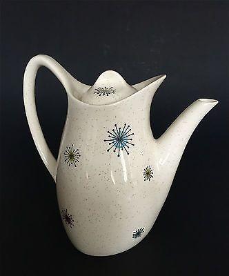 Vintage Midwinter 'STARDUST' Coffee Pot Jessie Tait Stylecraft Atomic Era c.1956