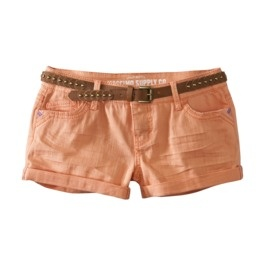Product: Mossimo Supply Co. Juniors Denim Short - Orange Sorbet