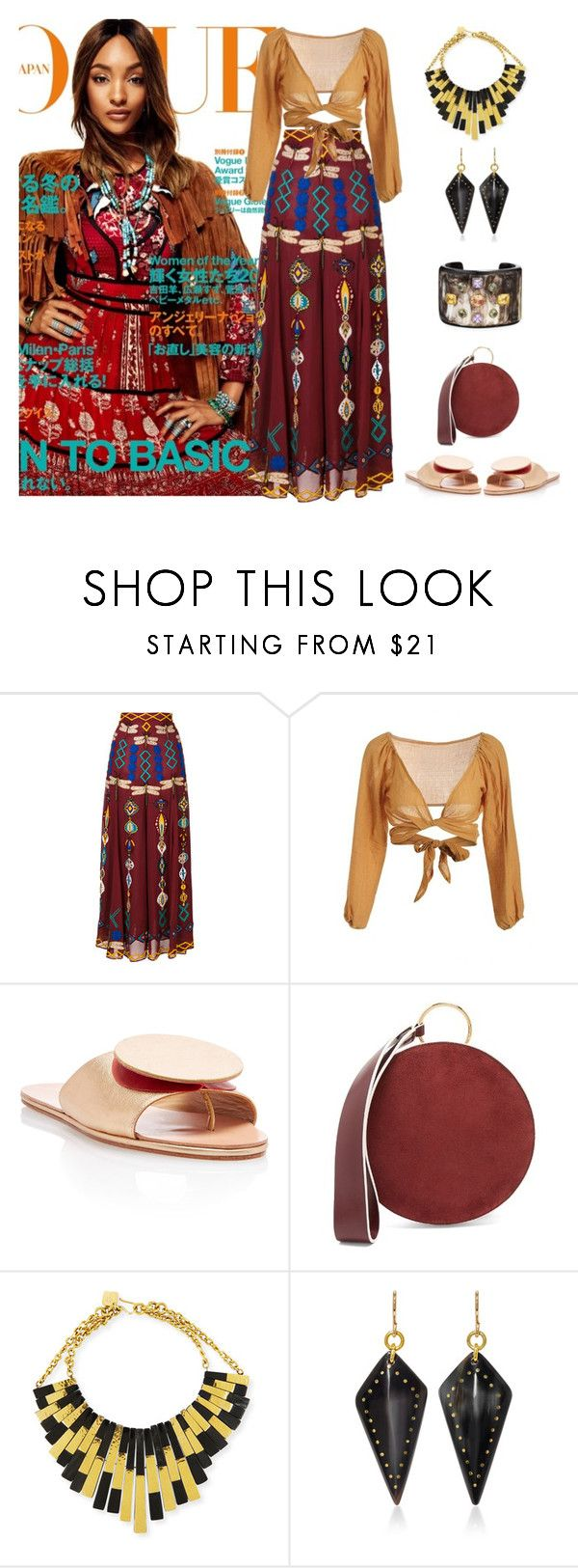 """""""Bohemian Dream"""" by karen-galves ❤ liked on Polyvore featuring Dunn, MICHEL KLEIN, The Palatines, Diane Von Furstenberg and Ashley Pittman"""