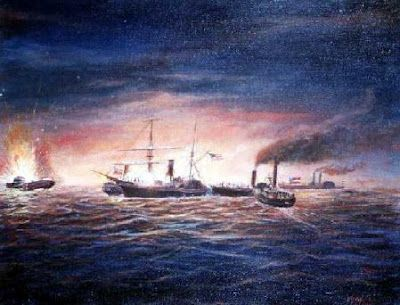 The First Battle of Galveston was primarily a naval battle fought October 4th 1862 in the harbor of Galveston, Texas.