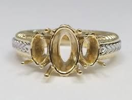 Image result for two tone opal ring settings