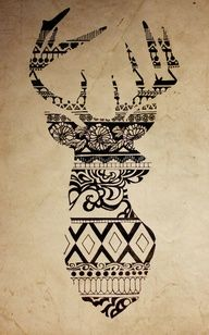 Cool idea for a tattoo...maybe not a buck but other design.