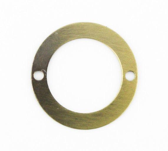 6 pcs 20mm Antique Brass Bronze Thin Round by FancyGemsandFindings, $4.50