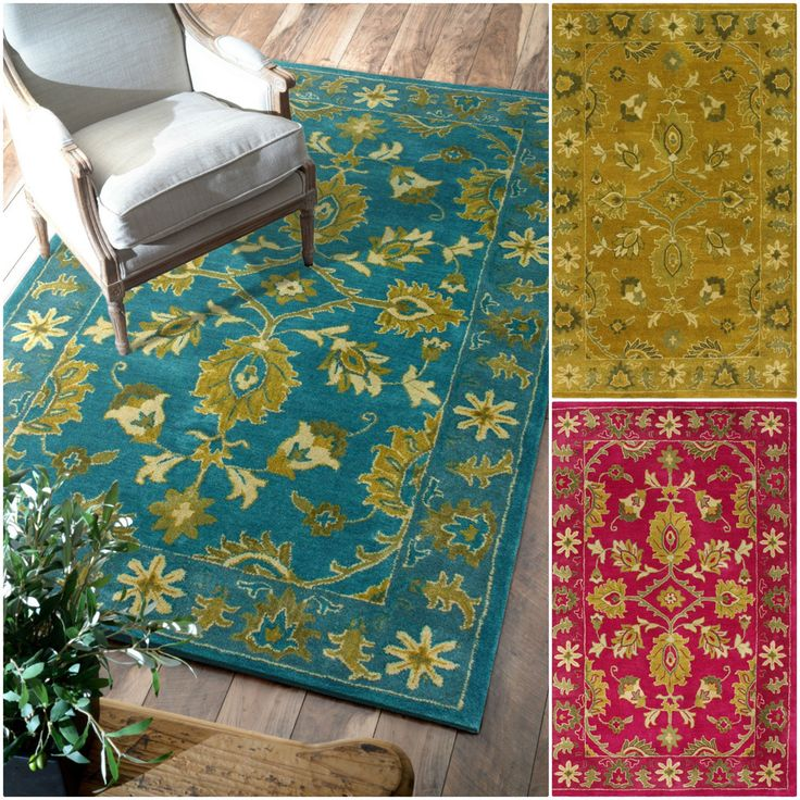 NuLOOM Handmade Overdyed Floral Wool Rug   Overstock™ Shopping   Great Deals  On Nuloom   Rugs
