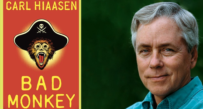 Carl Hiaasen is on the Writer's on a New England Stage, Friday, June 14, 2013! This wickedly funny, Florida-based novelist joins us with his hilarious new book, Bad Monkey, a fiercely pointed tale in which the greedy, the corrupt, and the degraders of pristine land in Florida—now, in the Bahamas too—get their comeuppance in mordantly ingenious, diabolically entertaining fashion.