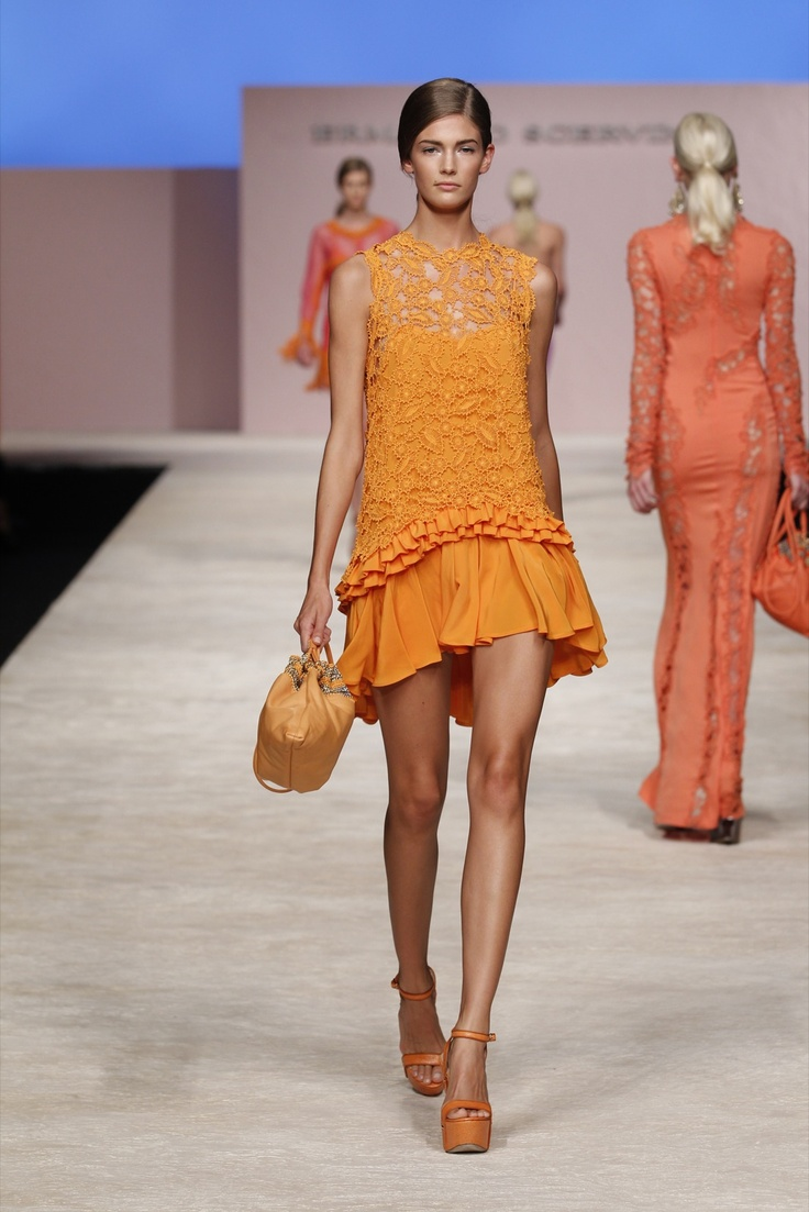 Beautiful bright orange.    Ermanno Scervino - Woman SS 13, Images, Look 06
