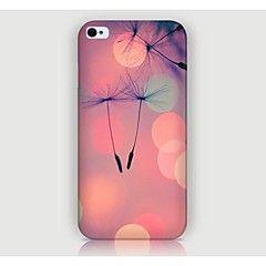 Bakdeksel - iPhone 4/4S/iPhone 4 - Spesielt Design/Original/Blomst ( Multi-farge , Plast )