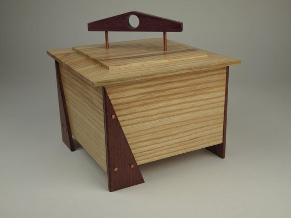Wooden Box with lid to use as Valet Keepsake by WildatHeartWood