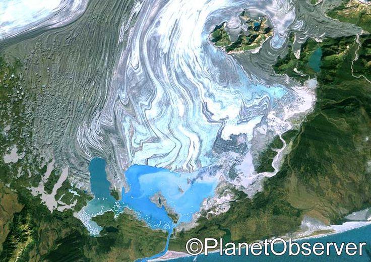 Bering glacier, Alaska, US – PlanetSAT satellite image