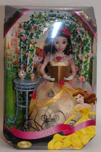 "AmazonSmile: Disney Princess Belle 16"" Porcelain Doll By Brass Key Keepsakes: Toys & Games"