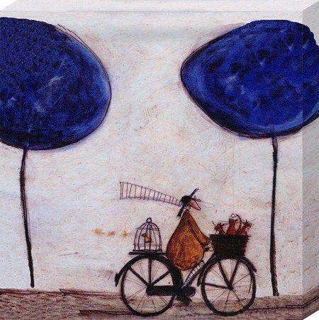 freewheelin with joyce greenfields sam toft canvas print