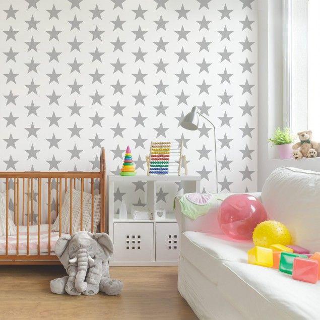 Kinderzimmer tapeten vliestapeten premium no yk43 sterne wei fototapete quadrat garten - Sterne tapete kinderzimmer ...