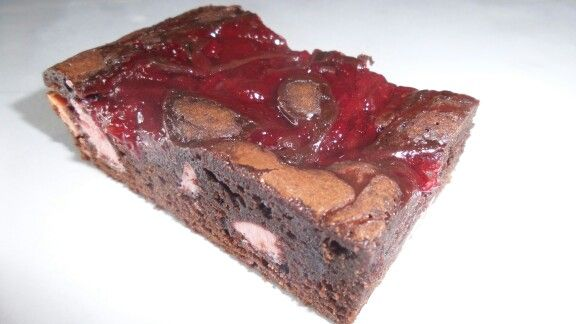 Dark chocolate & strawberry chocolate brownie created & baked by MJ www.mjscakes.co.nz in gorgeous Clive, Hawkes Bay NZ